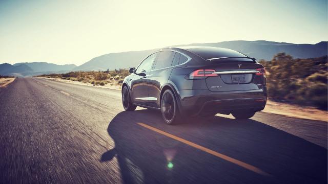 2020 Tesla Model X rear