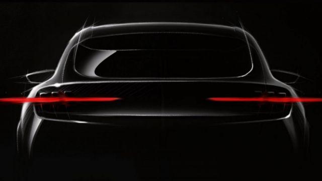 2021 Ford Mach E rear
