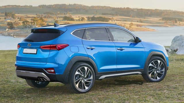 2021 Hyundai Tucson rear look