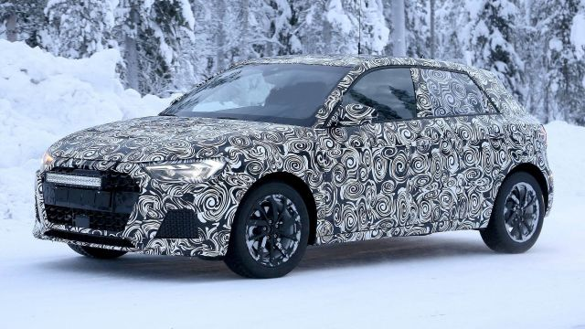 2021 Audi Q1 side spy photo