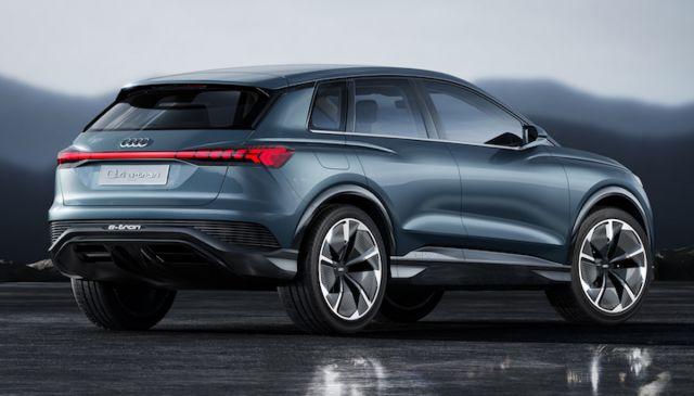 2021 Audi Q4 e-Tron rear
