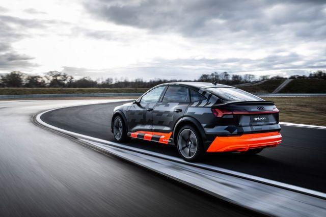 2021 Audi e-Tron S rear