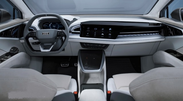 2021 Audi Q4 Sportback cabin