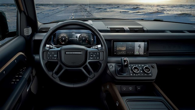 2021 Land Rover Defender V8 cabin