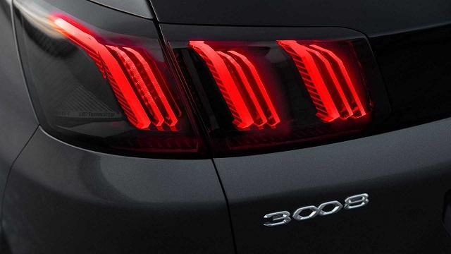2021 Peugeot 3008 rear