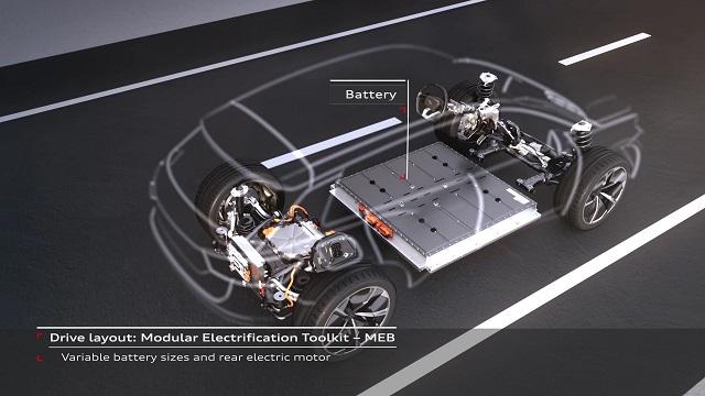 2022 Audi Q4 E-Tron battery