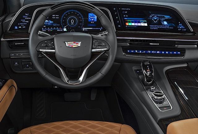 2022 Cadillac Escalade V interior